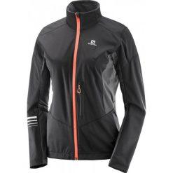 Salomon Lightning Sshell Jkt W Black/Forged Iron S. Czarne kurtki sportowe damskie Salomon, z tkaniny. W wyprzedaży za 459.00 zł.