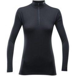 Devold Koszulka Damska Breeze Woman Half Zip Neck Black S. Czarne koszulki sportowe damskie Devold, z materiału, z długim rękawem. W wyprzedaży za 249.00 zł.