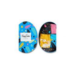 Giftbox (3-pak) skarpetki Happy Socks XEAS08-9000. Niebieskie skarpety męskie Happy Socks. Za 69.93 zł.