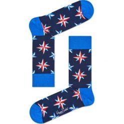 Happy Socks - Skarpetki Nautical Star. Niebieskie skarpety damskie Happy Socks, z bawełny. Za 39.90 zł.