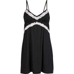 Koszulka nocna bonprix czarno-ecru. Czarne koszule nocne damskie bonprix, z koronki. Za 74.99 zł.