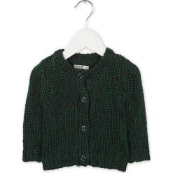 Kardigan w kolorze granatowo-zielonym. Swetry dla chłopców marki Reserved. W wyprzedaży za 97.95 zł.