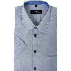 Koszula FABIO 15-01-22. Białe koszule męskie Giacomo Conti, na lato, w paski, z materiału, z klasycznym kołnierzykiem, z krótkim rękawem. Za 169.00 zł.