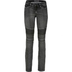 Dżinsy SKINNY w stylu biker bonprix czarny denim. Jeansy damskie marki bonprix. Za 139.99 zł.