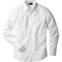 Koszula ze stretchem Slim Fit bonprix biały. Białe koszule męskie bonprix. Za 74.99 zł.