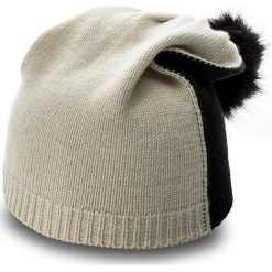 Czapka TWINSET - Cuffia OA7T51  Jacq. Naturale/Nero 01464. Niebieskie czapki i kapelusze damskie Twinset, z materiału. W wyprzedaży za 169.00 zł.