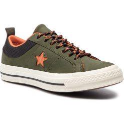 Tenisówki CONVERSE - One Star Ox 162544C Utility Green/Campfire Orange. Zielone trampki męskie Converse, z gumy. W wyprzedaży za 259.00 zł.