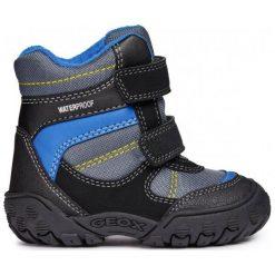 Geox Chłopięce Buty Zimowe Za Kostkę Gulp, 20, Czarny/Niebieski. Czarne buty zimowe chłopięce Geox, z gumy. Za 279.00 zł.