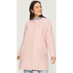 Płaszcz z wełną - Różowy. Czerwone płaszcze damskie Sinsay, z wełny. Za 179.99 zł.