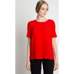 Elegancka czerwona bluzka z krótkim rękawem BIALCON. Czerwone bluzki damskie BIALCON, z tkaniny, eleganckie, z krótkim rękawem. Za 155.00 zł.
