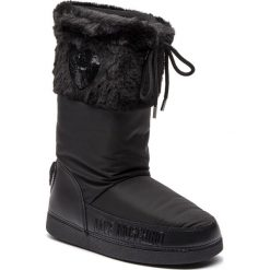Śniegowce LOVE MOSCHINO - JA24062G06JM0000  Nero. Czarne kozaki damskie Love Moschino, z materiału. Za 659.00 zł.