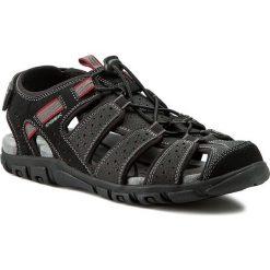 Sandały GEOX - U S Strada B U6224B 00050 C9999 Czarny. Czarne sandały męskie Geox, z materiału. W wyprzedaży za 239.00 zł.