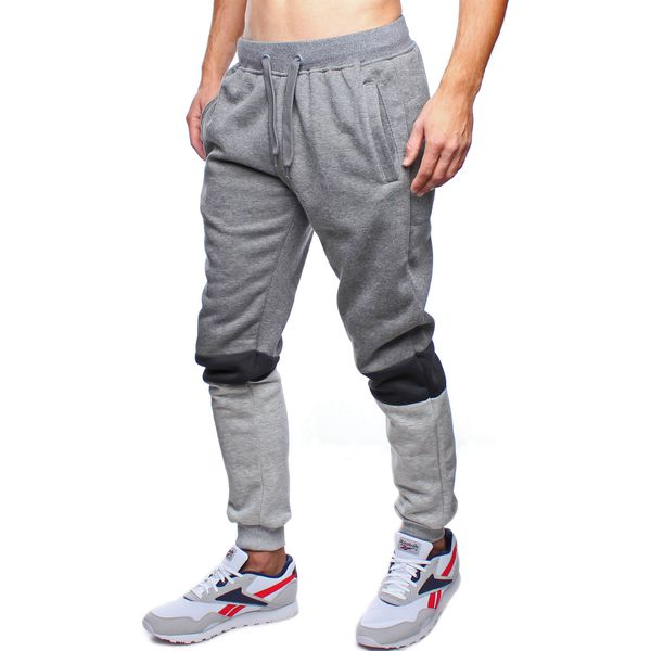 01c905e013405c Spodnie męskie dresowe grafitowe Recea - Szare spodnie sportowe ...
