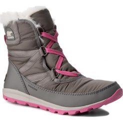 Śniegowce SOREL - Youth Whitney Short Lace NY1897 Quarry/Pink Ice 052. Śniegowce dziewczęce Sorel, z gumy. W wyprzedaży za 239.00 zł.