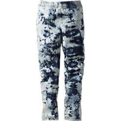 Legginsy dżinsowe bonprix batikowy niebieski stone. Jeansy dla dziewczynek marki bonprix. Za 37.99 zł.