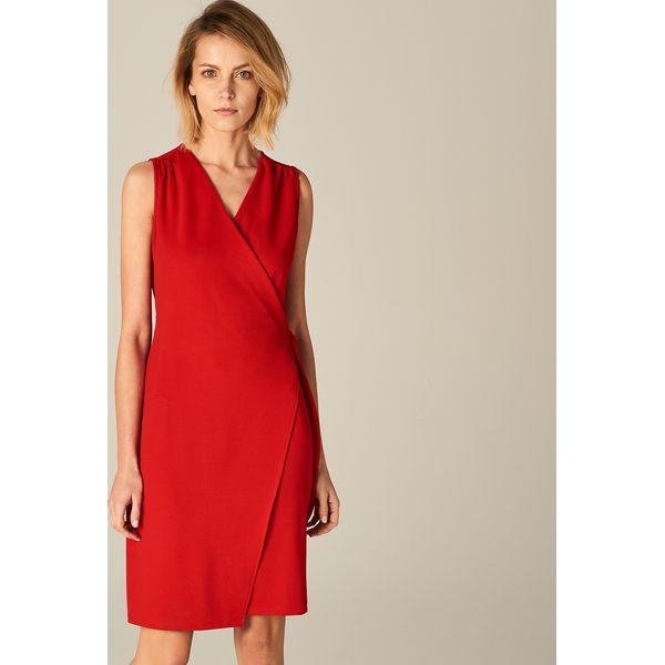 4d1b79f4ec45d7 Czerwona kopertowa sukienka - Czerwony - Sukienki damskie Mohito, z ...