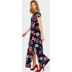dd40deede2eabb Długa sukienka z rozcięciem. Sukienki damskie Greenpoint, bez wzorów, z  wiskozy, bez