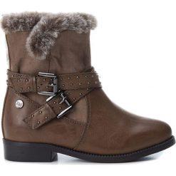 Botki w kolorze brązowym. Botki dziewczęce Zimowe obuwie dla dzieci. W wyprzedaży za 102.95 zł.