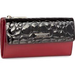 Duży Portfel Damski MONNARI - PUR1054-005 Red With Black. Czarne portfele damskie Monnari, z lakierowanej skóry. W wyprzedaży za 129.00 zł.