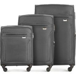 Zestaw walizek V25-3S-26S-00. Brązowe walizki damskie Wittchen. Za 462.21 zł.
