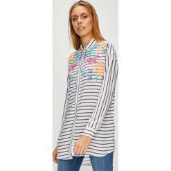 U.S. Polo - Koszula. Szare koszule damskie U.S. Polo, w paski, z tkaniny, casualowe, z klasycznym kołnierzykiem, z długim rękawem. W wyprzedaży za 339.90 zł.