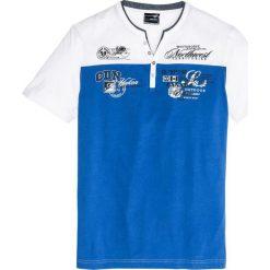 T-shirt 2 w 1 Regular Fit bonprix lazurowo-biały. T-shirty męskie marki Giacomo Conti. Za 44.99 zł.