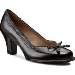 Półbuty CLARKS - Bombay Lights 203067434 Black Leather. Czarne półbuty damskie Clarks, ze skóry. W wyprzedaży za 279.00 zł.