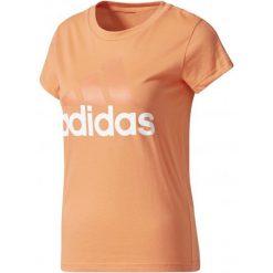 Adidas Koszulka Sportowa Ess Li Slim Tee Easy Coral/White S. Białe koszulki sportowe damskie Adidas, z bawełny, z klasycznym kołnierzykiem. W wyprzedaży za 51.00 zł.