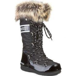 Śniegowce MOON BOOT - Monaco 24002800001 Nero. Czarne śniegowce i trapery damskie Moon Boot, z futra. Za 699.00 zł.