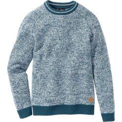 Sweter Regular Fit bonprix niebieskozielony morski. Swetry przez głowę męskie marki Giacomo Conti. Za 49.99 zł.