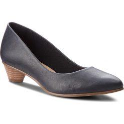 Półbuty CLARKS - Mena Bloom 261324024 Black Leather. Czarne półbuty damskie Clarks, ze skóry. W wyprzedaży za 259.00 zł.