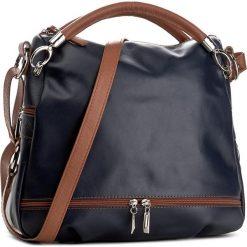 Torebka CREOLE - RBI215 Ciemny Granat/Brąz. Niebieskie torebki do ręki damskie Creole, ze skóry. W wyprzedaży za 279.00 zł.
