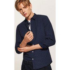 Koszula w kropki - Granatowy. Niebieskie koszule męskie House, w kropki. Za 79.99 zł.