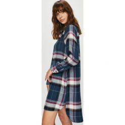 Dkny - Koszula nocna. Szare koszule nocne damskie DKNY, z materiału. W wyprzedaży za 279.90 zł.