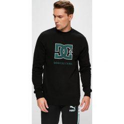 DC - Bluza. Czarne bluzy męskie DC, z aplikacjami, z bawełny. W wyprzedaży za 239.90 zł.