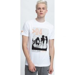 T-shirt męski TSM004 - biały. T-shirty męskie marki Giacomo Conti. W wyprzedaży za 44.99 zł.