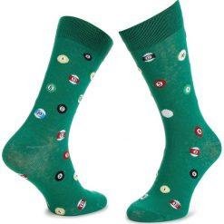 Skarpety Wysokie Męskie DOTS SOCKS - DTS-SX-176-X Zielony. Zielone skarpety męskie Dots Socks, z bawełny. Za 19.90 zł.