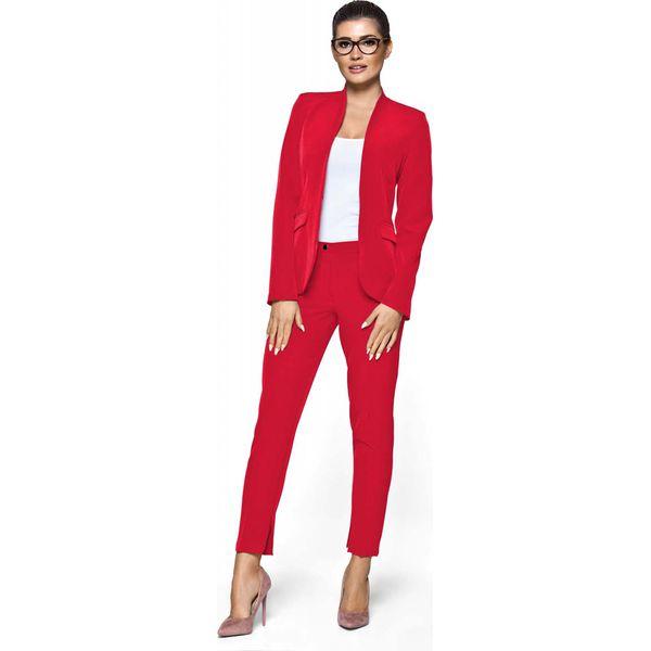 82de5035ce Czerwony Komplet Garnitur Spodnie Damski - Spodnie materiałowe ...