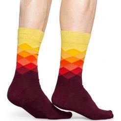 Happy Socks - Skarpety Faded Diamond. Brązowe skarpety męskie Happy Socks, z bawełny. W wyprzedaży za 29.90 zł.