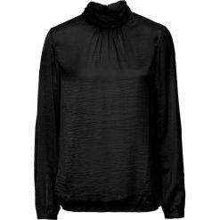 Bluzka satynowa ze stójką bonprix czarny. Bluzki damskie marki MAKE ME BIO. Za 74.99 zł.