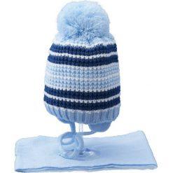 Czapka dziecięca z szalikiem CZ+S 020A niebieska r. 46-48. Czapki dla dzieci marki Reserved. Za 45.25 zł.