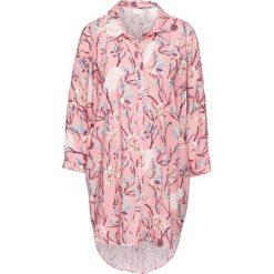 Bluzka oversize z wycięciami bonprix dymny różowy w kwiaty. Czerwone bluzki damskie bonprix, w kwiaty. Za 59.99 zł.