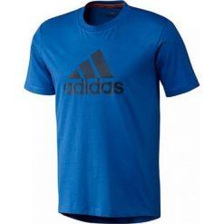 Adidas Tshirt Logo G80950. Niebieskie t-shirty męskie Adidas, z bawełny. W wyprzedaży za 69.99 zł.