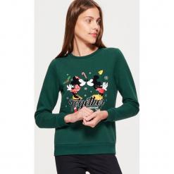 Świąteczna bluza MICKEY MOUSE - Khaki. Bluzy damskie marki Sinsay. W wyprzedaży za 59.99 zł.