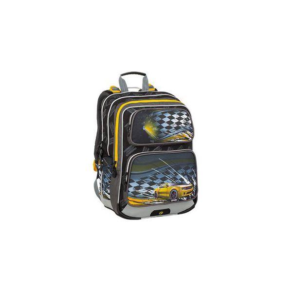 93da576f83c18 Plecak szkolny czarny + żółty Bagmaster Galaxy 9 D - Torby i plecaki ...