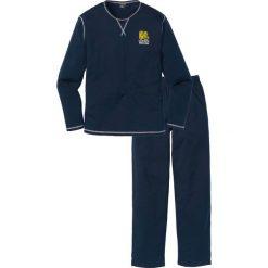 Piżama bonprix ciemnoniebieski. Niebieskie piżamy męskie bonprix. Za 59.99 zł.