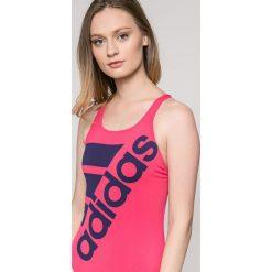 Adidas Performance - Strój kąpielowy. Szare kostiumy jednoczęściowe damskie adidas Performance. W wyprzedaży za 129.90 zł.