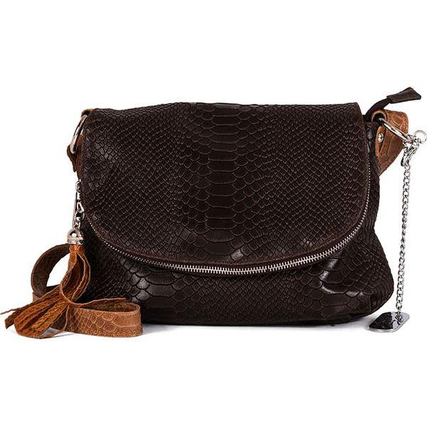 Skórzana torebka w kolorze brązowym 28 x 20 x 8 cm