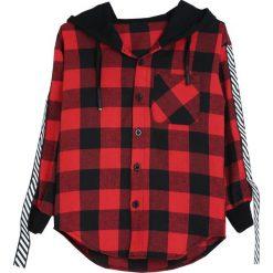 Czarno-Czerwona Koszula Notice Me. Koszule dla chłopców marki bonprix. Za 39.99 zł.