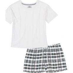 72005d0097eca4 Piżama bonprix biel wełny - niebieski z nadrukiem - Białe piżamy ...